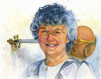 Painting - The Violin Teacher by John D Benson