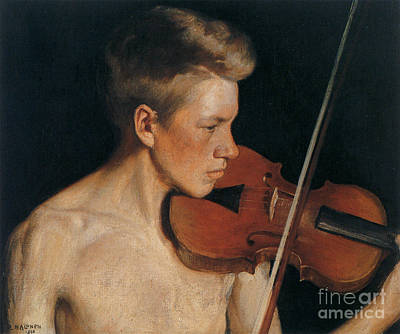 Violin Painting - The Violinist by Celestial Images
