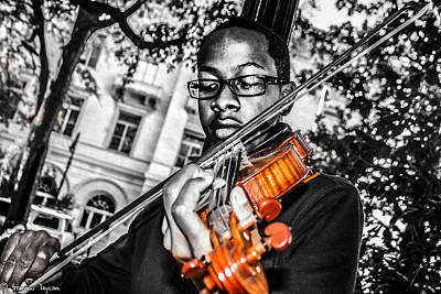Steven Taylor Photograph - The Violinist  by Steven  Taylor