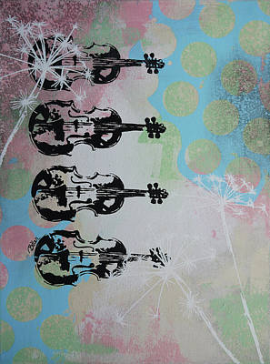 The Violins Art Print by Bitten Kari