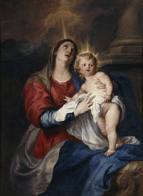 The Virgin And Child, 1628 Art Print by Sir Anthony van Dyck
