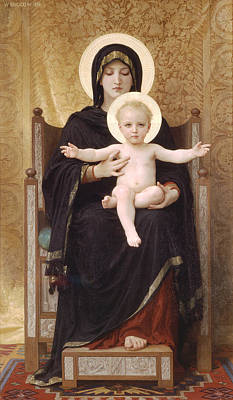 Religious Artist Painting - The Virgin And Child by William-Adolphe Bouguereau