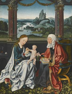 The Virgin And Child With Saint Anne Art Print