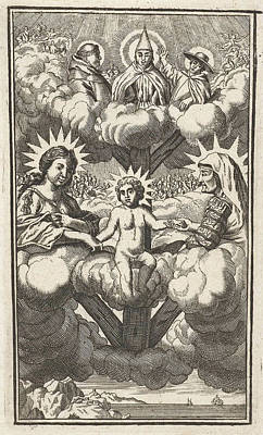 Holy Ghost Drawing - The Virgin And Child With St by Samuel Van Hoogstraten And Philip Verbeek