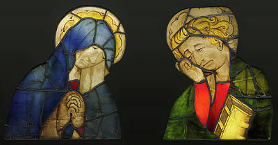 1420 Painting - The Virgin And Saint John, From A Crucifixion Unknown Maker by Litz Collection