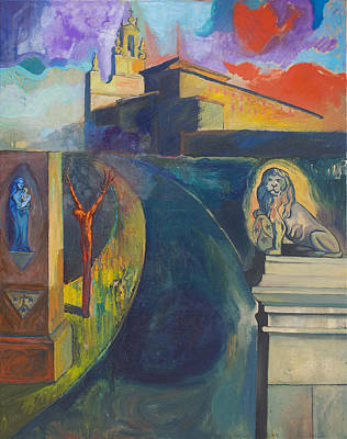 The Virgin And The Lion Art Print by Fernando Alvarez