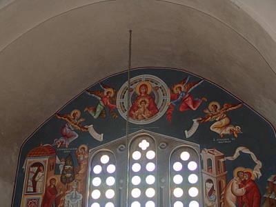 Byzantin Painting - The Virgin Lady Of Angels by Charalampos Gkolfinopulos