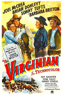 The Virginian, Us Poster, From Left Art Print by Everett
