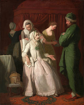 Comfort Painting - The Virtuous Comforted By Sympathy, Edward Penny by Litz Collection