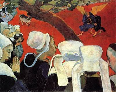 Sermon Painting - The Vision After The Sermon by Paul Gauguin