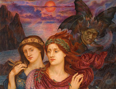 Sadness Painting - The Vision by Evelyn De Morgan