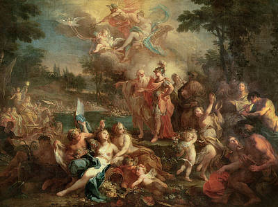 Aeneas Painting - The Vision Of Aeneas In The Elysian Fields by Sebastiano Conca
