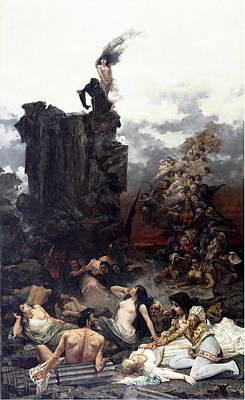 Vicente Painting - The Vision Of Fray Martin by Vicente Cotanda Nicolau