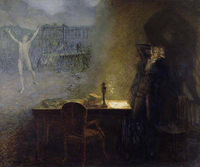 Apparition Photograph - The Vision Of Robespierre Oil On Canvas by Jean Joseph Weerts