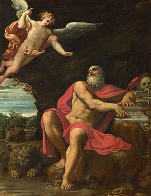Painting - The Vision Of Saint Jerome by Domenichino