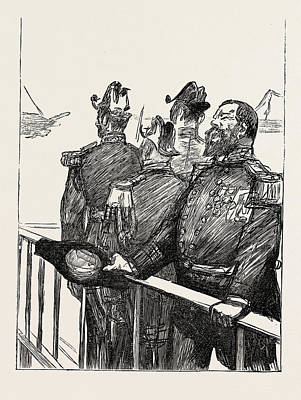 French Leaders Drawing - The Visit Of The French Fleet The Leader Of The Cheers by English School