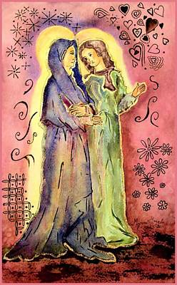 Painting - The Visitation by Myrna Migala