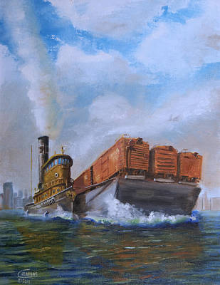 Tugboat Wall Art - Painting - The Vital Link by Christopher Jenkins