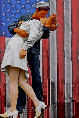 Scupture Photograph - The Vj Day Kiss by DJ Florek