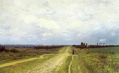 Perspective Painting - The Vladimirka Road by Isaak Ilyich Levitan