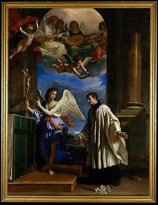 Guercino Painting - The Vocation Of Saint Aloysius Luigi by Guercino