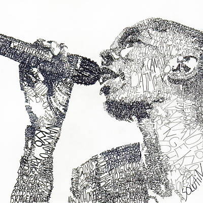 Musicians Drawings - Maxi Jazz by Michael Volpicelli