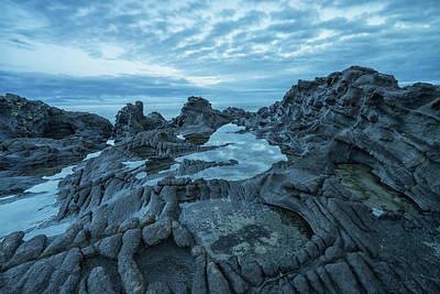 Haida Gwaii Photograph - The Volcanic Bedrock Near Tow Hill by Robert Postma