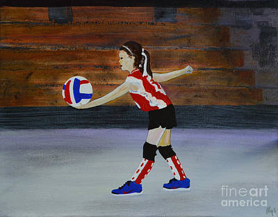 The Volleyball Game Art Print by Alys Caviness-Gober