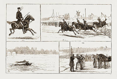 The Volunteer Camp At Wimbledon Uk 1873 Print by Litz Collection