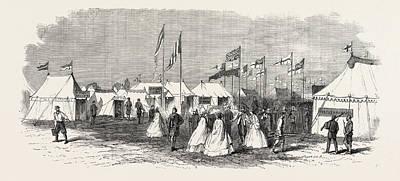 Wimbledon Drawing - The Volunteer Camp Wimbledon Windmill Street by English School