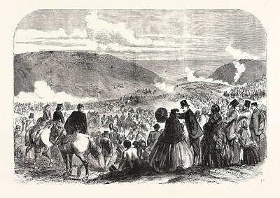Jesus Drawing - The Volunteer Sham Fight At Brighton On Easter Monday by English School