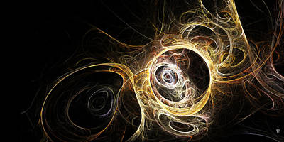 Fractal Other Worlds Digital Art - The Vortex Being by Richard Pennells