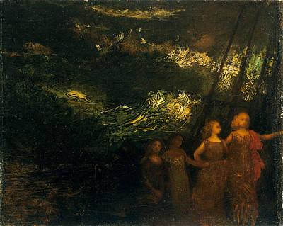 Arthur Bowen Davies Painting - The Voyage by Arthur Bowen Davies