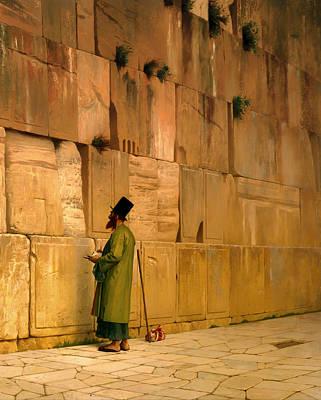 Wailing Wall Painting - The Wailing Wall by Mountain Dreams