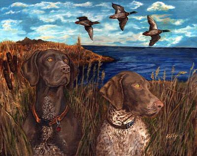 Wetlands Drawing - The Wait by Kathleen Kelly Thompson