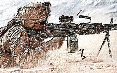 Army Photograph - The Wait by VRL Art