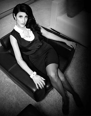 Upscale Photograph - The Waiting Game Film Noir by William Dey