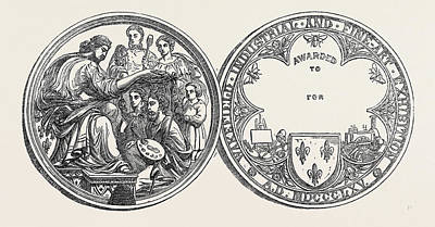 The Wakefield Industrial Exhibition Prize Medal 1866 Art Print by English School
