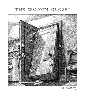 open closet door drawing. Open Door Drawing - The Walk-in Closet By Ann McCarthy