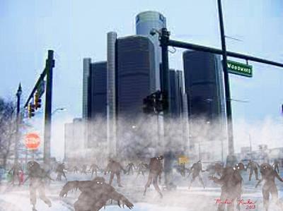 Resident Evil Digital Art - The Walking Dead by Michael Rucker