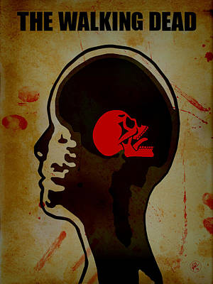 Walking Dead Digital Art - The Walking Dead - Mri by Lance Vaughn