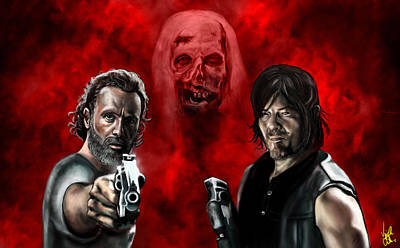 The Walking Dead Print by Vinny John Usuriello