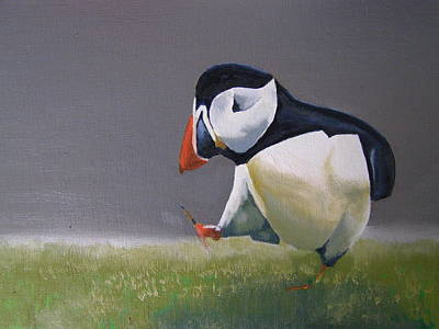 Painting - The Walking Puffin by Eric Burgess-Ray