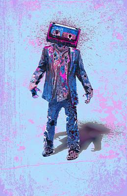 The Walking Tapes Art Print by Renars Slavinskis