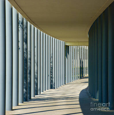 Photograph - The Walkway In The Columns by Mark Dodd