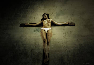 Crucifixion Wall Art - Photograph - The Wall II by Ramon Martinez