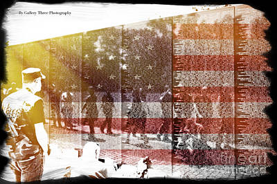 Vietnam Veterans Memorial Wall Photograph - The Wall by Tom Gari Gallery-Three-Photography