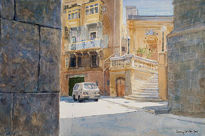 Birgu Painting - The Walls Of Birgu by Lucy Willis