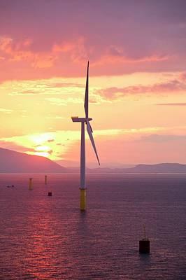 The Walney Offshore Windfarm Art Print