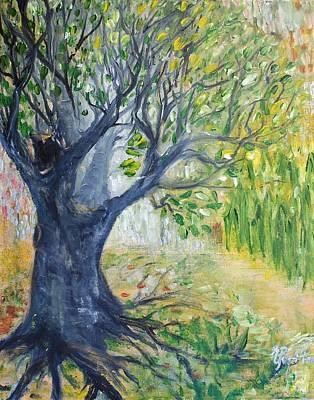 Tree Roots Painting - The Walnut by Evelina Popilian